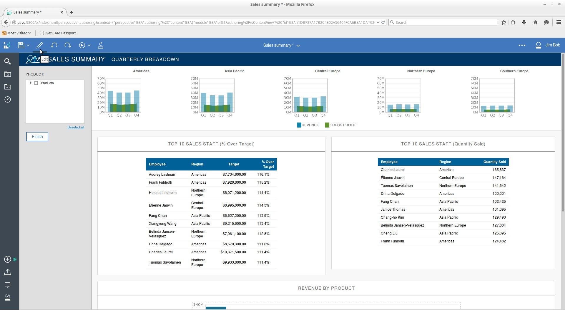 Cognos Analytics Authoring