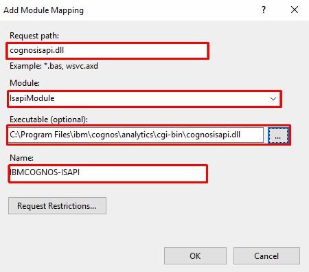 add module mapping IBM Cognos