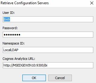 retrieve configuration servers